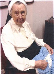 Sr. Ann Joseph studied nursing at St. Francis Hospital in Trenton and today ministers at the medical center as a volunteer.
